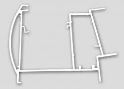 Schnitt Aluminum Terrassendach Rinne